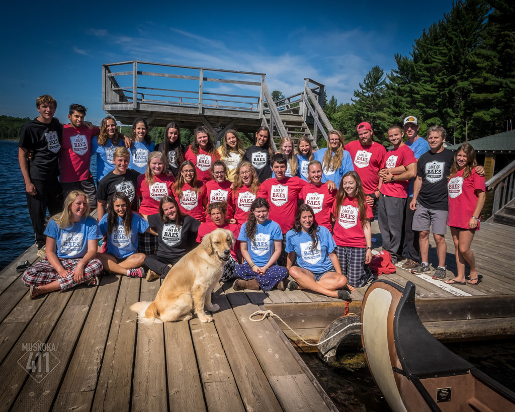 Camp New Moon staff wearing the Lake of BAES t-shirts from Muskoka411