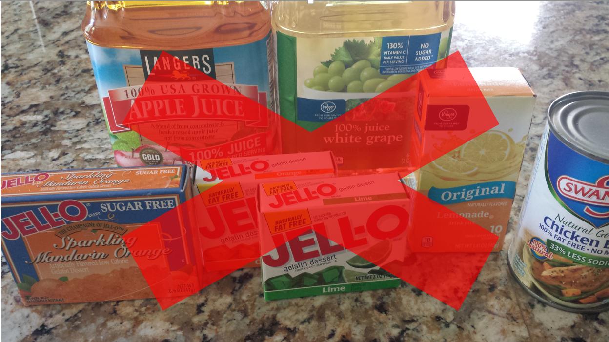 hard candies on clear liquid diet