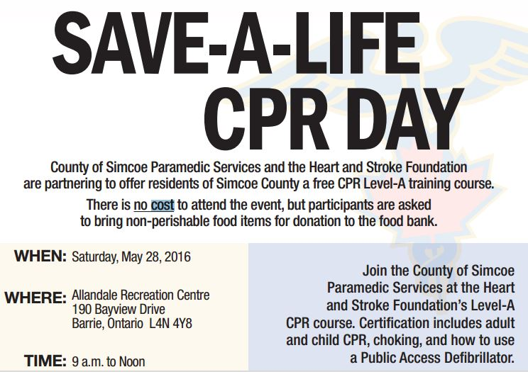 Free Cpr Course Offered To Simcoe County Students Muskoka411
