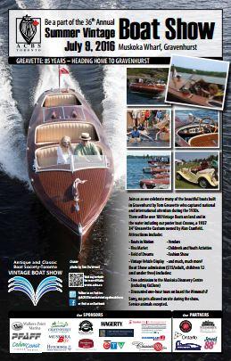 Vintage Boat Show 2016 - Gravenhurst