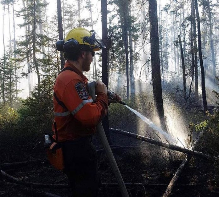 ground crews continue to extinguish hot spots at parry sound 33
