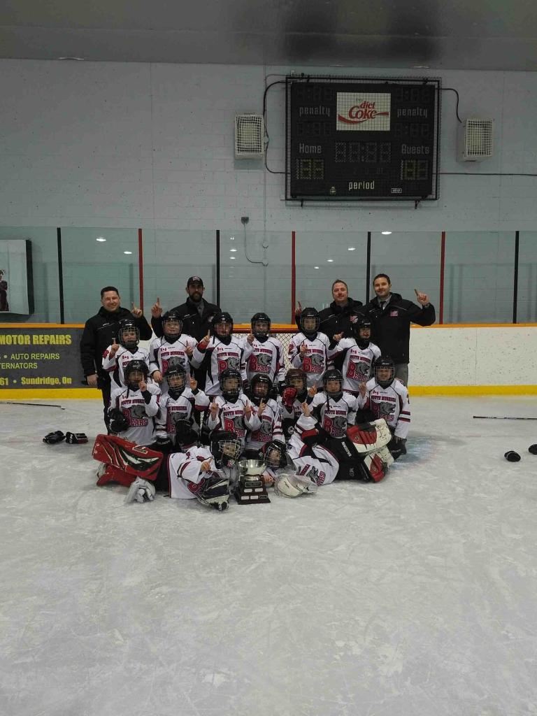 Four Teams From The South Muskoka Bears Minor Hockey League