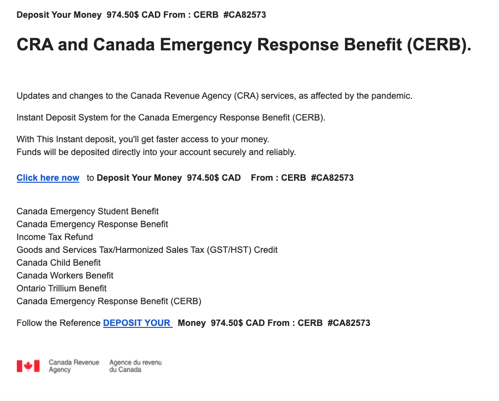 Cerb And Other Covid 19 Related Scams Continue To Circulate Muskoka411 Com
