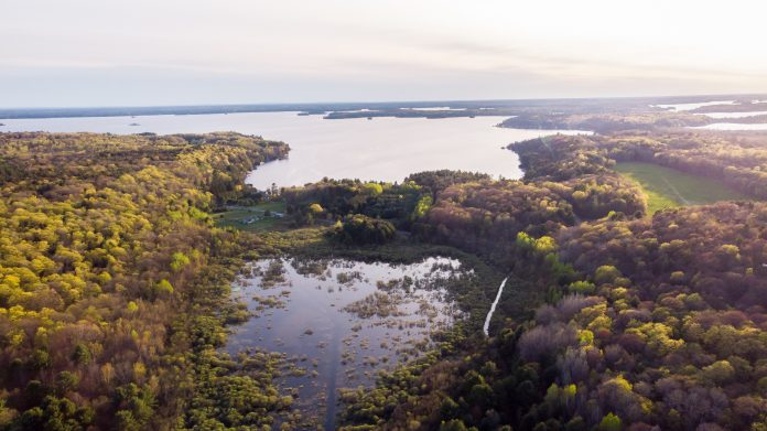 A view over the area in Bracebridge where a developer has proposed a school complex known as Muskoka Royale College. Photo courtesy of Michael Appleby