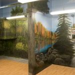 Donated mural at Home Suite Hope in Oakville