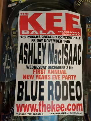 The poster from the first annual New Years Eve party at the Kee