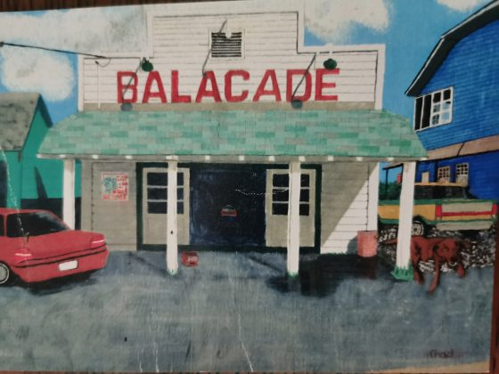 A painting of the Balacade by Paul and Patricia Arney's son Chad