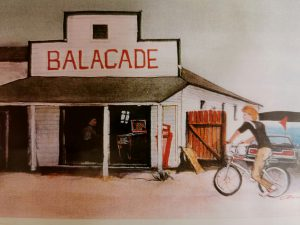 Robert Amos' painting of the Balacade