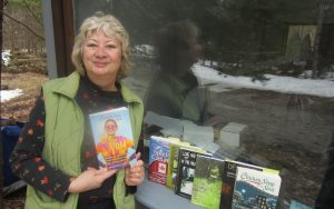 Kathy Ashby with Be You, the new Chicken Soup for the Soul book, along with her other books and anthologie