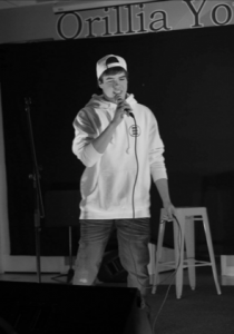 Nelson Bell performing at the Orillia Youth Centre